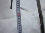 積雪160cm