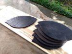 黒染めリーフ皿