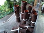 樹皮の花器