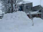 雪下ろし後