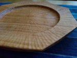 手彫り八角皿
